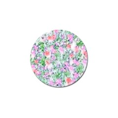 Softly Floral A Golf Ball Marker (10 Pack) by MoreColorsinLife