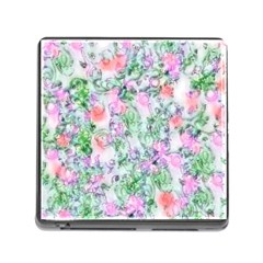 Softly Floral A Memory Card Reader (square) by MoreColorsinLife