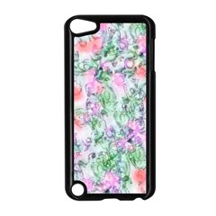 Softly Floral A Apple Ipod Touch 5 Case (black) by MoreColorsinLife