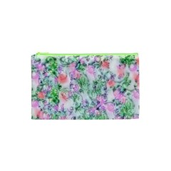 Softly Floral A Cosmetic Bag (xs) by MoreColorsinLife
