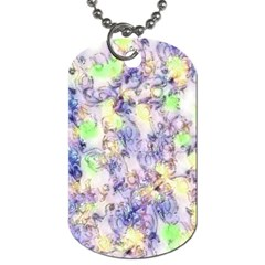 Softly Floral B Dog Tag (two Sides) by MoreColorsinLife