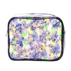 Softly Floral B Mini Toiletries Bags by MoreColorsinLife