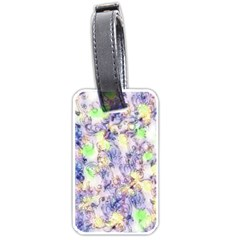 Softly Floral B Luggage Tags (one Side)  by MoreColorsinLife
