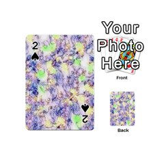 Softly Floral B Playing Cards 54 (mini)  by MoreColorsinLife
