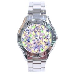 Softly Floral B Stainless Steel Analogue Watch by MoreColorsinLife
