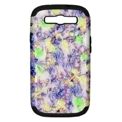 Softly Floral B Samsung Galaxy S Iii Hardshell Case (pc+silicone) by MoreColorsinLife