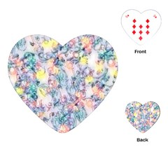 Softly Floral C Playing Cards (heart)  by MoreColorsinLife