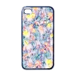 Softly Floral C Apple Iphone 4 Case (black) by MoreColorsinLife