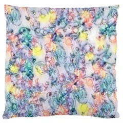 Softly Floral C Large Cushion Case (two Sides) by MoreColorsinLife
