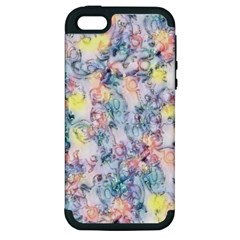 Softly Floral C Apple Iphone 5 Hardshell Case (pc+silicone) by MoreColorsinLife