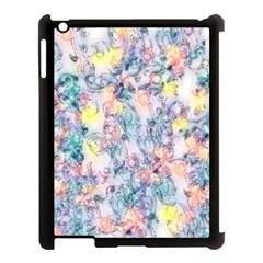 Softly Floral C Apple Ipad 3/4 Case (black) by MoreColorsinLife