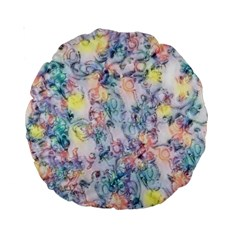 Softly Floral C Standard 15  Premium Round Cushions by MoreColorsinLife
