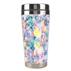 Softly Floral C Stainless Steel Travel Tumblers by MoreColorsinLife