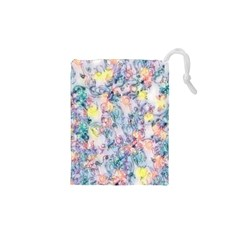 Softly Floral C Drawstring Pouches (xs)  by MoreColorsinLife