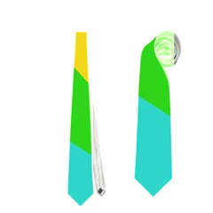 Green Yellow Shapes        Necktie by LalyLauraFLM