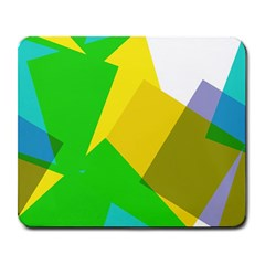 Green Yellow Shapes        Large Mousepad by LalyLauraFLM