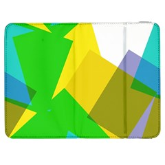 Green yellow shapes  HTC One M7 Hardshell Case by LalyLauraFLM