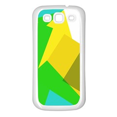 Green yellow shapes  Samsung Galaxy S7710 Xcover 2 Hardshell Case by LalyLauraFLM