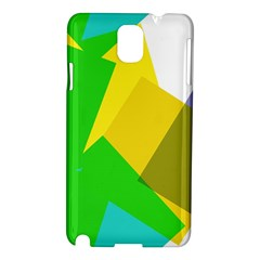 Green Yellow Shapes  Nokia Lumia 928 Hardshell Case by LalyLauraFLM