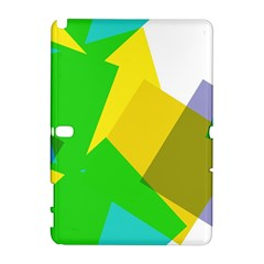 Green yellow shapes  HTC Desire 601 Hardshell Case by LalyLauraFLM