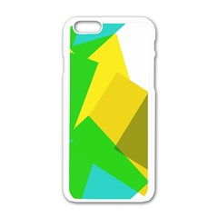 Green Yellow Shapes  Motorola Moto E Hardshell Case by LalyLauraFLM