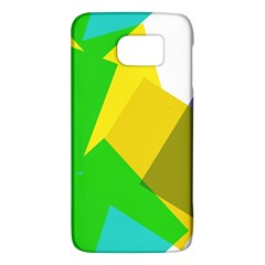 Green yellow shapes  HTC One M9 Hardshell Case by LalyLauraFLM