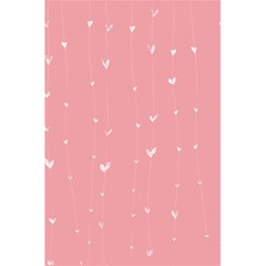 Pink Background With White Hearts On Lines 5 5  X 8 5  Notebooks by TastefulDesigns