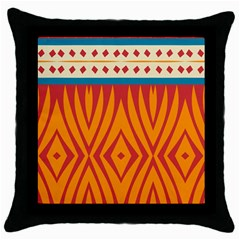 Shapes In Retro Colors       Throw Pillow Case (black) by LalyLauraFLM