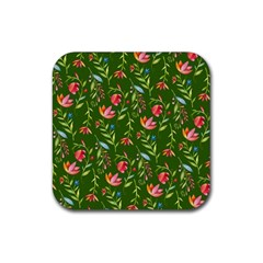 Sunny Garden I Rubber Square Coaster (4 Pack)  by tarastyle
