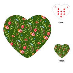Sunny Garden I Playing Cards (heart)