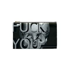Fuck You Cosmetic Bag (small)  by mugebasakart