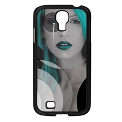 Turquoise Angel Samsung Galaxy S4 I9500/ I9505 Case (black) by mugebasakart