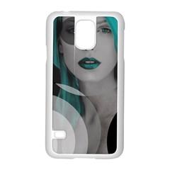 Turquoise Angel Samsung Galaxy S5 Case (white) by mugebasakart