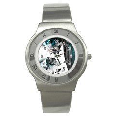 Blue Eye Stainless Steel Watch by mugebasakart