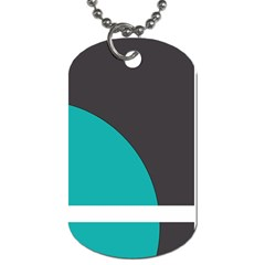 Turquoise Line Dog Tag (two Sides) by mugebasakart