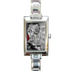Bridge Rectangle Italian Charm Watch by mugebasakart