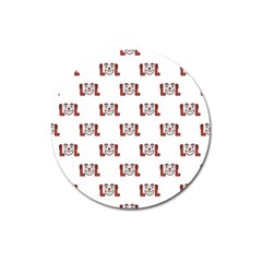 Lol Emoji Graphic Pattern Magnet 3  (round) by dflcprints