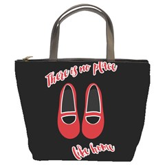 There Is No Place Like Home Bucket Bags by Valentinaart