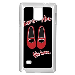 There Is No Place Like Home Samsung Galaxy Note 4 Case (white) by Valentinaart
