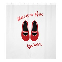 There Is No Place Like Home Shower Curtain 66  X 72  (large)  by Valentinaart