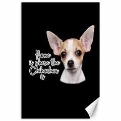 Chihuahua Canvas 24  X 36  by Valentinaart