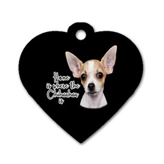 Chihuahua Dog Tag Heart (one Side) by Valentinaart