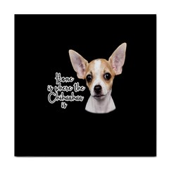 Chihuahua Face Towel by Valentinaart