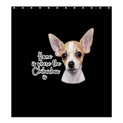 Chihuahua Shower Curtain 66  X 72  (large)  by Valentinaart