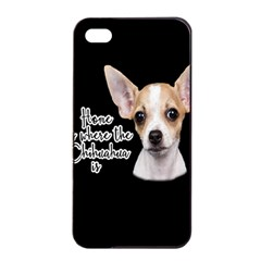 Chihuahua Apple Iphone 4/4s Seamless Case (black) by Valentinaart