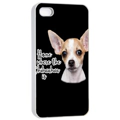 Chihuahua Apple Iphone 4/4s Seamless Case (white) by Valentinaart