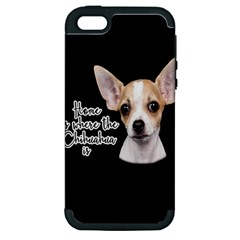 Chihuahua Apple Iphone 5 Hardshell Case (pc+silicone) by Valentinaart