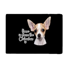 Chihuahua Apple Ipad Mini Flip Case by Valentinaart