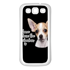 Chihuahua Samsung Galaxy S3 Back Case (white) by Valentinaart