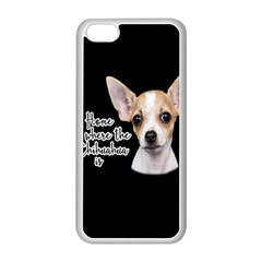 Chihuahua Apple Iphone 5c Seamless Case (white) by Valentinaart